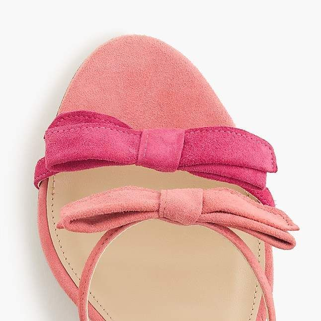 6814f6b2deb J.Crew Stella bow heels (100mm) in fuschia