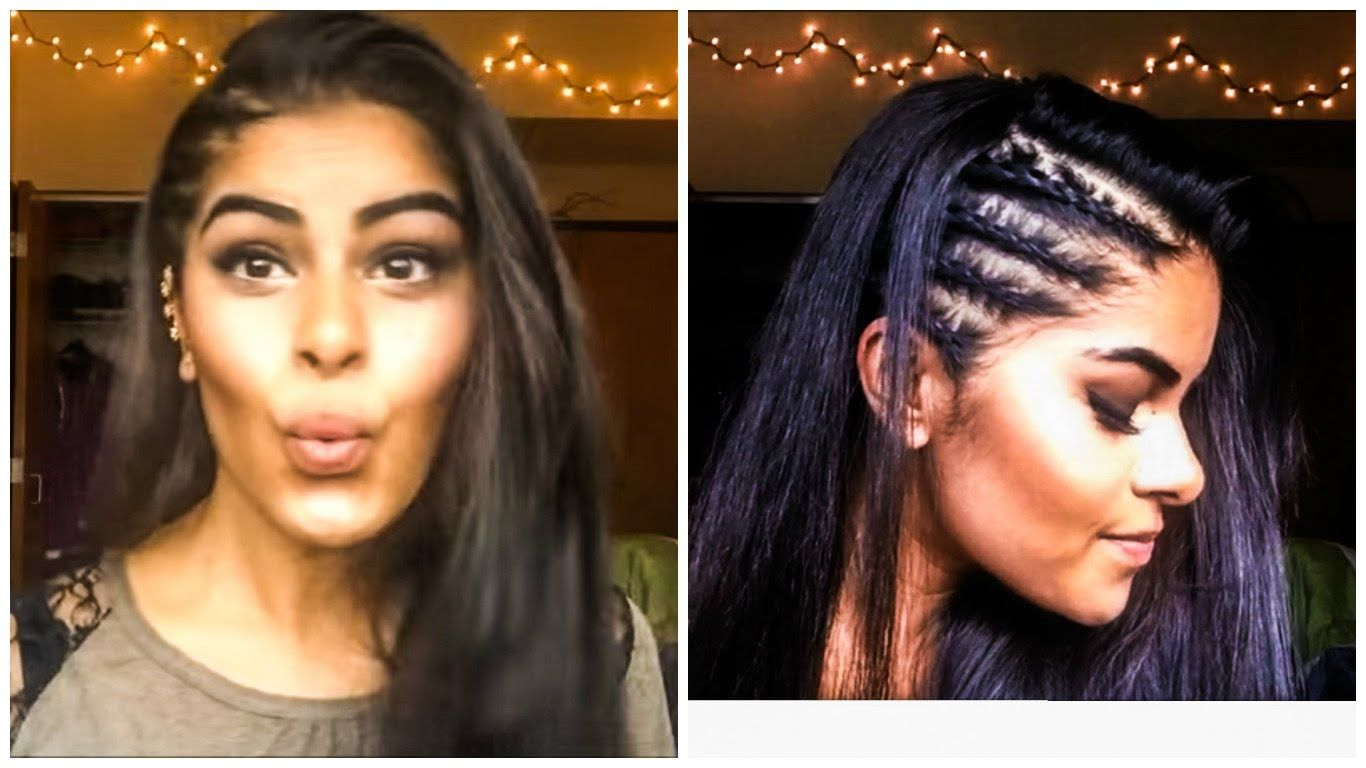 Tight Braids on Side of Head with Straightening Techniques ...