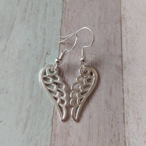 Angel Wing Earrings Angel Jewelry Gifts For Her Girl Earrings