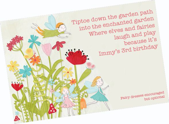 A Fairy Birthday Party – Fairy Birthday Party Invitation Wording