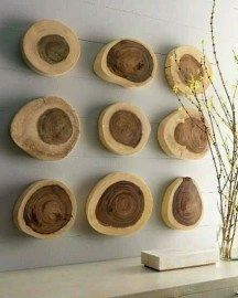 Unique wall accents using nature! #Trending #nature #chic #homedecor  http://daintypeach.co/2015/01/21/trending-nature-inspired-home-decor/