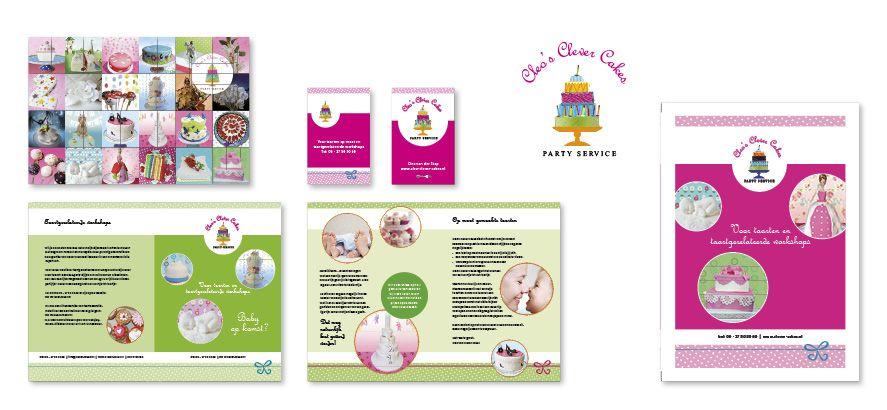 Logo en huisstijl ontwerp, grafisch werk en website Cleo's CLever Cakes © Meneer Web [ http://www.meneerweb.nl ]