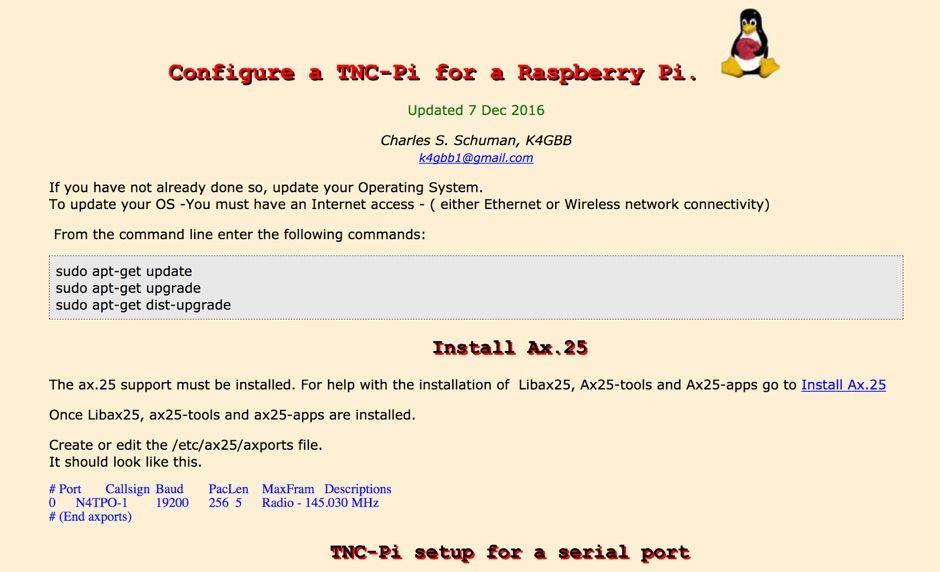 Raspberry Pi - TNC-Pi   Ham / Radio   Raspberry pi projects