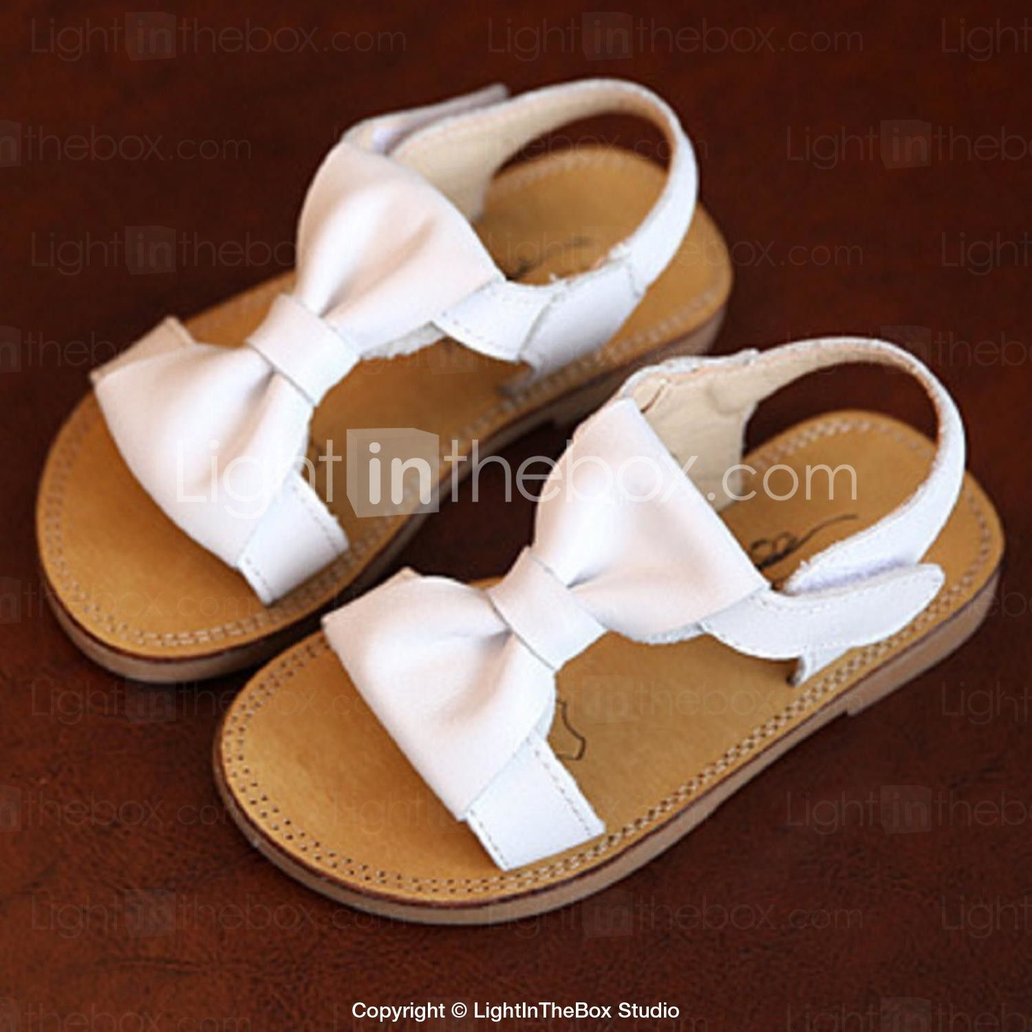 Girls Shoes Casual Cowhide Sandals Summer Comfort Open Toe Flat