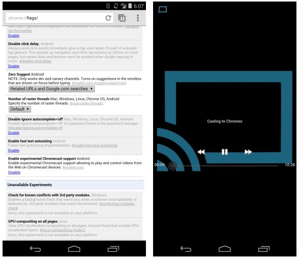 Stream embedded web videos to Chromecast with Chrome Beta for