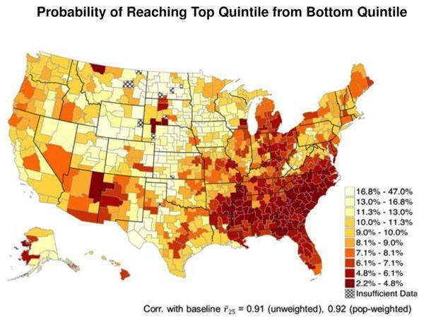 Social Mobility Geography Map American Dream