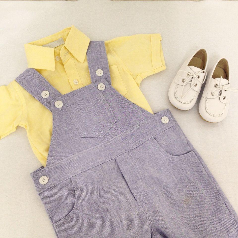 Look Maison Baby para os nossos baby boys. Jardineira Matheus + Body gola  social + sapato de couro. e1ee53a4f4a