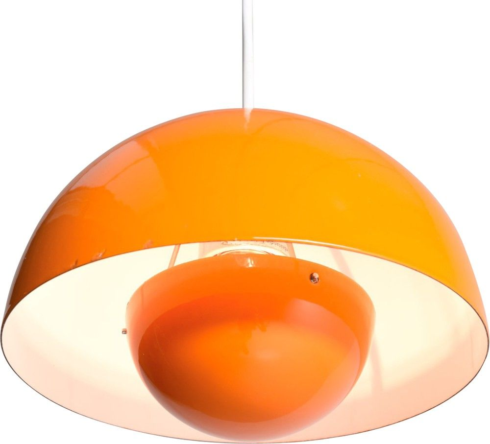 Verner Panton Le suspension scandinave flowerpot louis poulsen orange verner