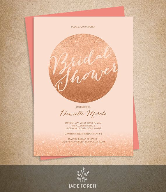 """B Wedding Invitations Coupons: 10% OFF With Coupon Code """"PIN10"""" Rose Gold Sparkle Bridal"""