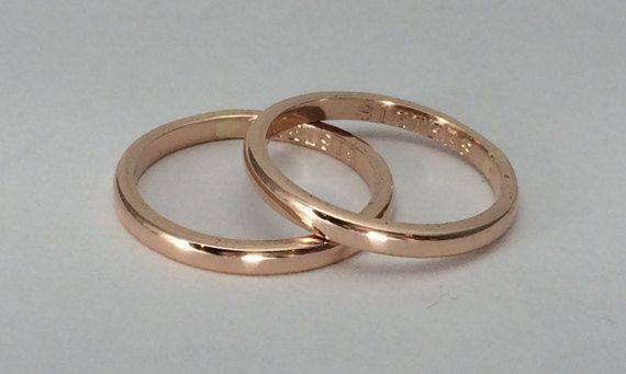 Engraved One Ring 10kt Gold 12g Rose Or Yellow Gold Ring With Engraving Up To Sz 8 Pink Gold Rings Gold Rings Plain Gold Ring