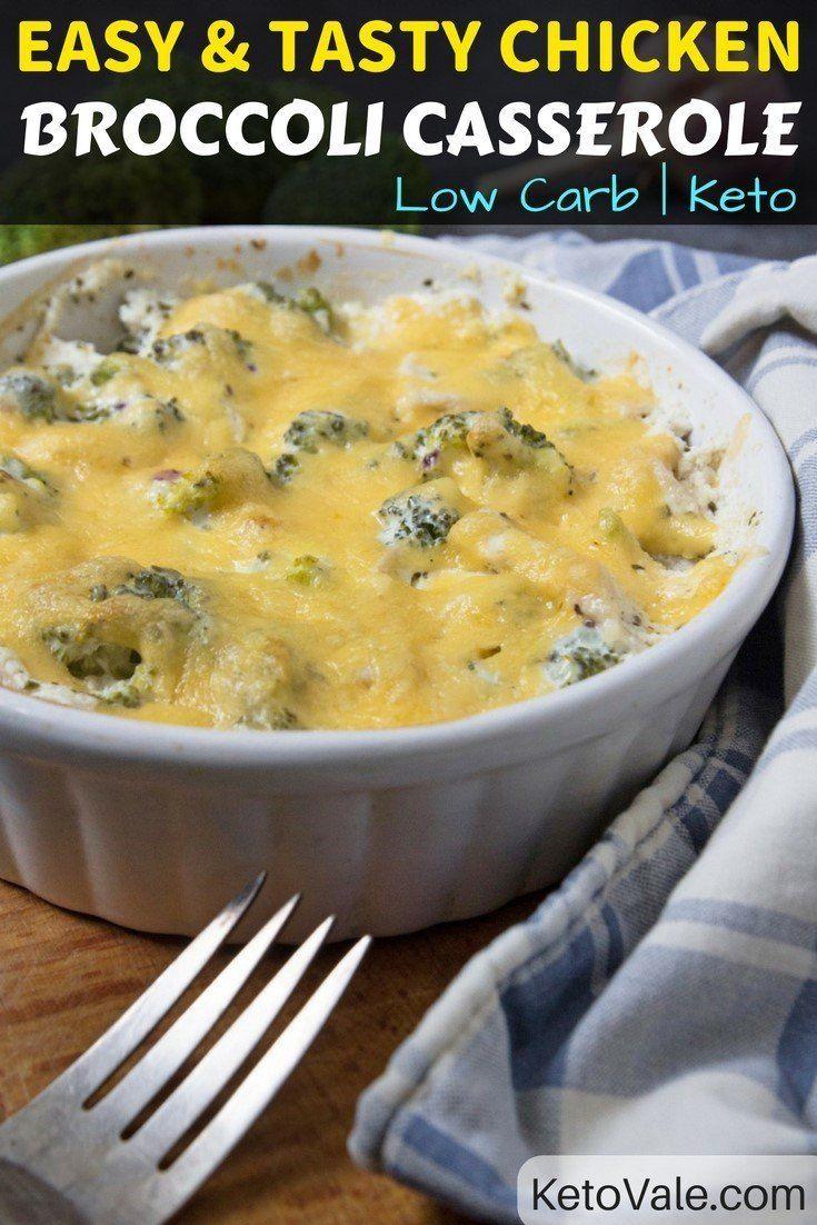 Easy Keto Chicken Broccoli Casserole  Recipe  Ketogenic -3474