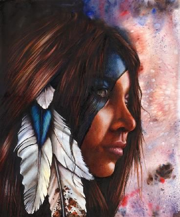 So inspired by the spirit of native american warrior women.