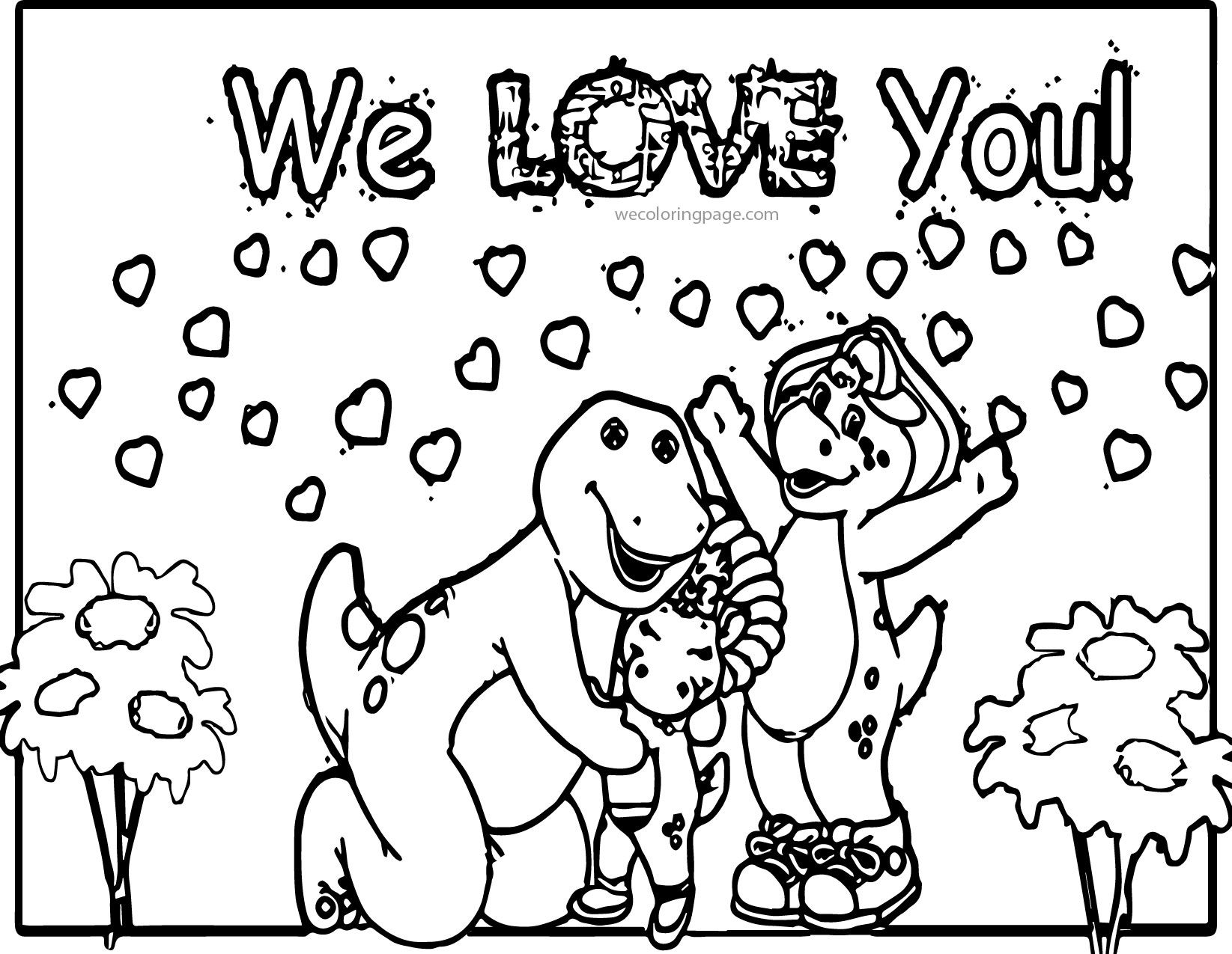 Barney Friends Coloring Pages Coloring Pages Dinosaur Coloring Pages Printable Coloring