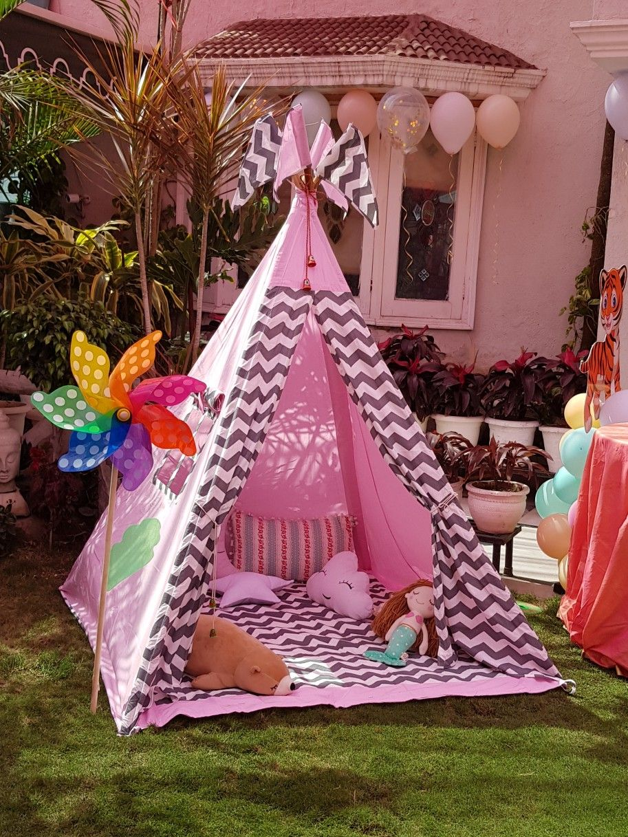 Girl S Birthday Party Decor Ideas In 2020 Baby Tent Kids Tents Girls Tent