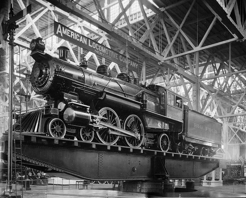 Spirit Of The 20th Century A Huge 100 Ton Locomotive On A Revolving Turntable During The 1904 World S Fair In St Louis Misso Locomotive Train Train Posters