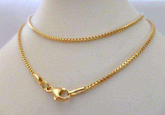 18k Solid Gold Chain Franco 18ct 18k 750 Men S Women