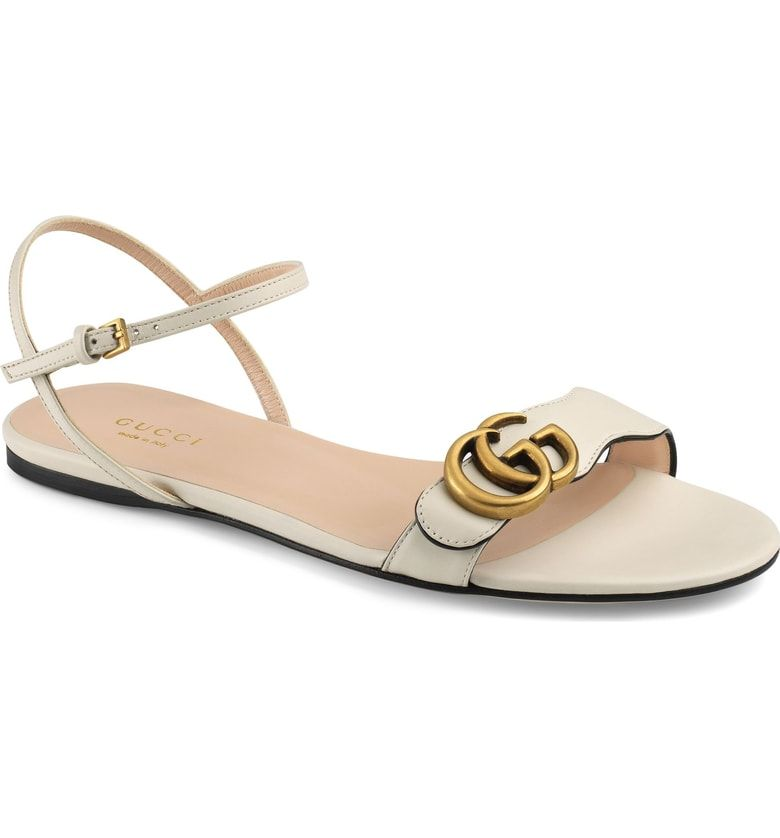 68fb1d0f3204 Free shipping and returns on Gucci Marmont Quarter Strap Flat Sandal  (Women) at Nordstrom