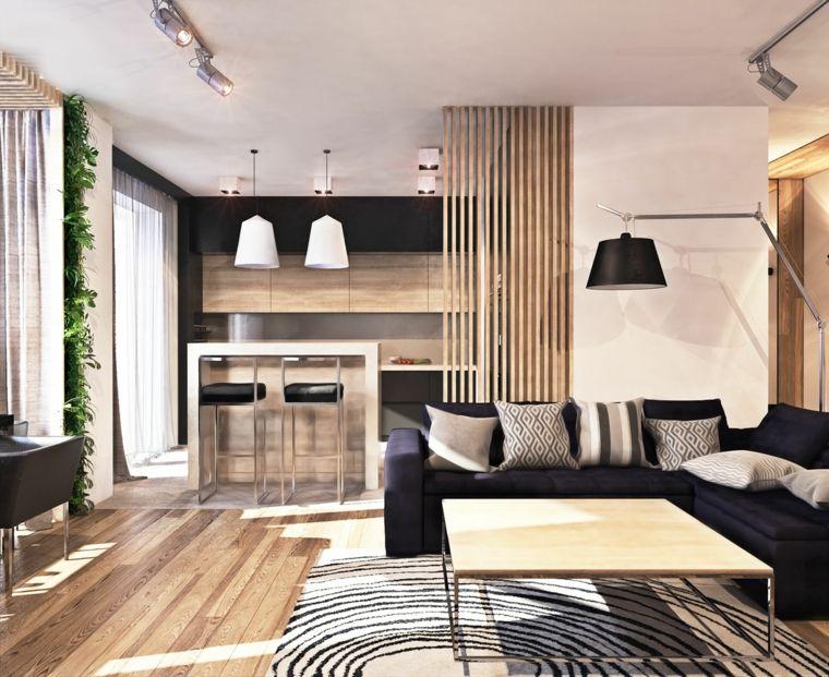 Cucina E Sala Open Space.Arredamento Moderno Di Un Open Space Con Cucina E Soggiorno Con