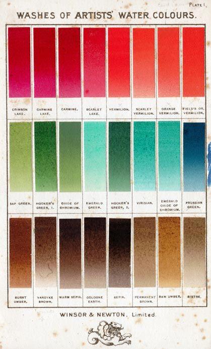 Nuancier Des Couleurs Pour Aquarelle De Winsor Newton Palette