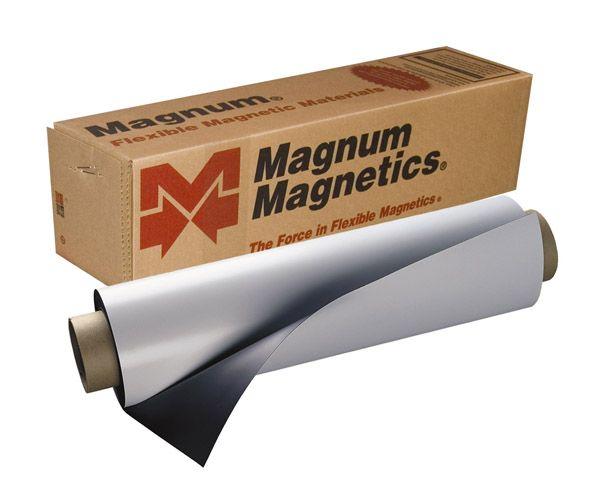Digimag Magnetic Vinyl For Solvent Print Matte 25mil 24 X 25 Roll Magnetic Sheets Vinyl Magnets Sign Materials