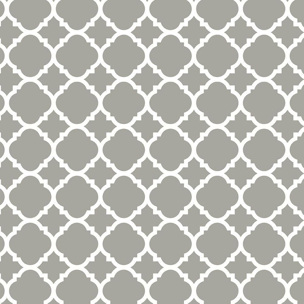 Design Contact Paper Designs liberty 18 in x 117 6 vintage inspired adhesive quatrefoil drawer paper grey