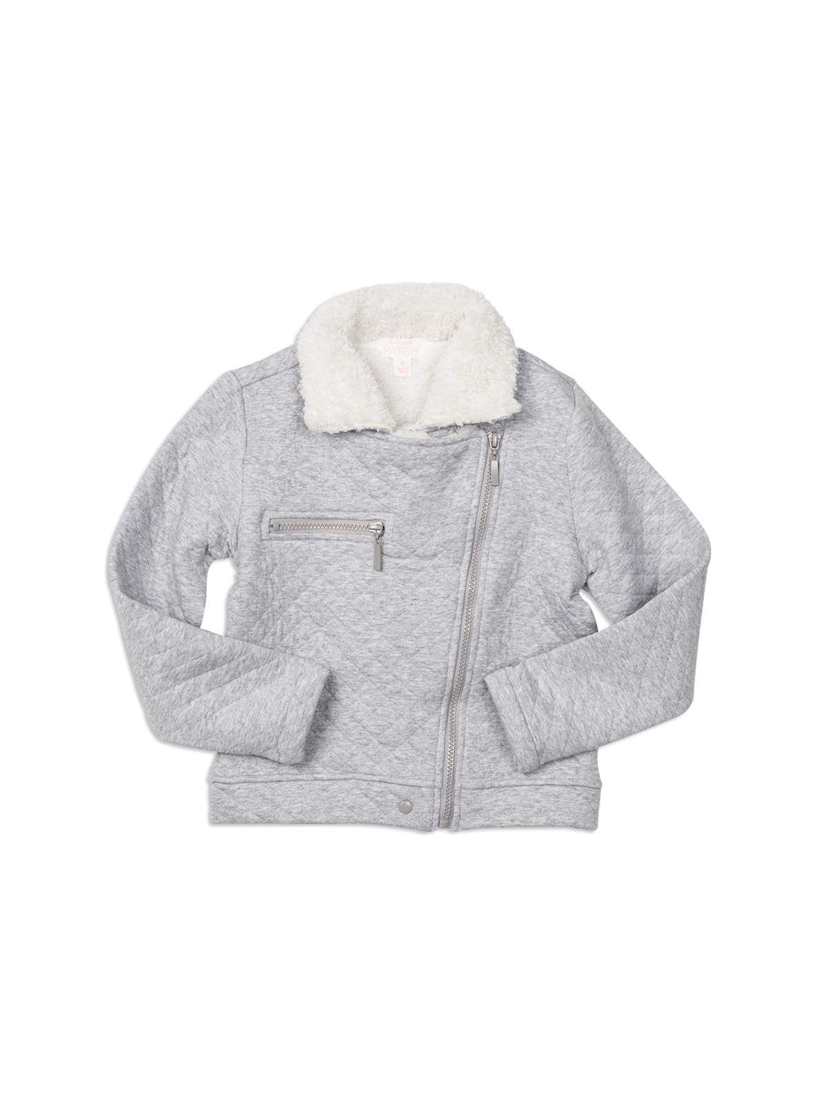 f0d47aaed Quilted biker jacket from Pumpkin Patch girl range. Grey marle sizes ...