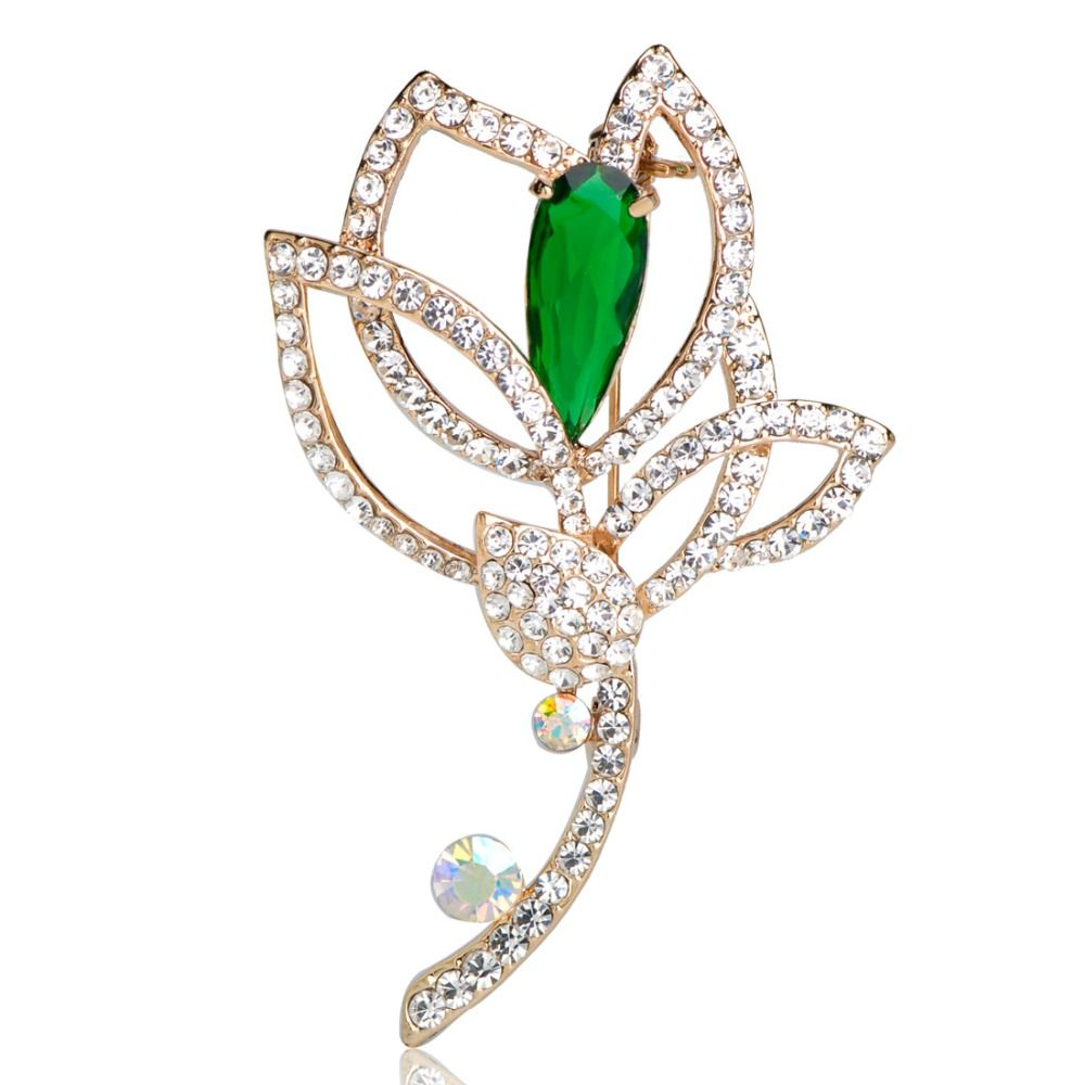 Luxury brand designer woman large flowers rainbow rhinestone madrry alloy metal red flowers brooch for women girls shiny rhinestone hijab scarf pins up buckle accessories femininos broches izmirmasajfo Image collections