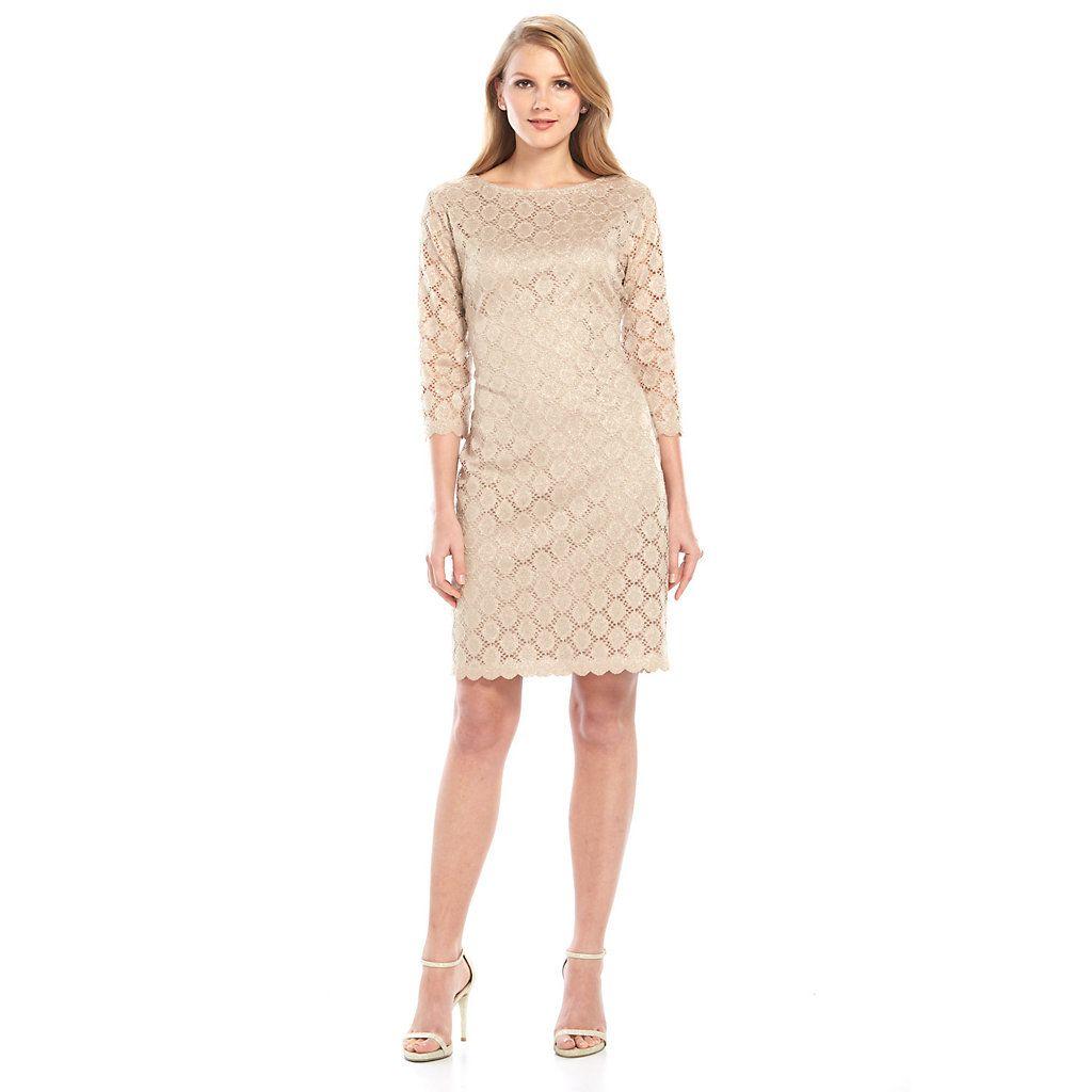 Ronni nicole glitter lace sheath dress kohls dresses