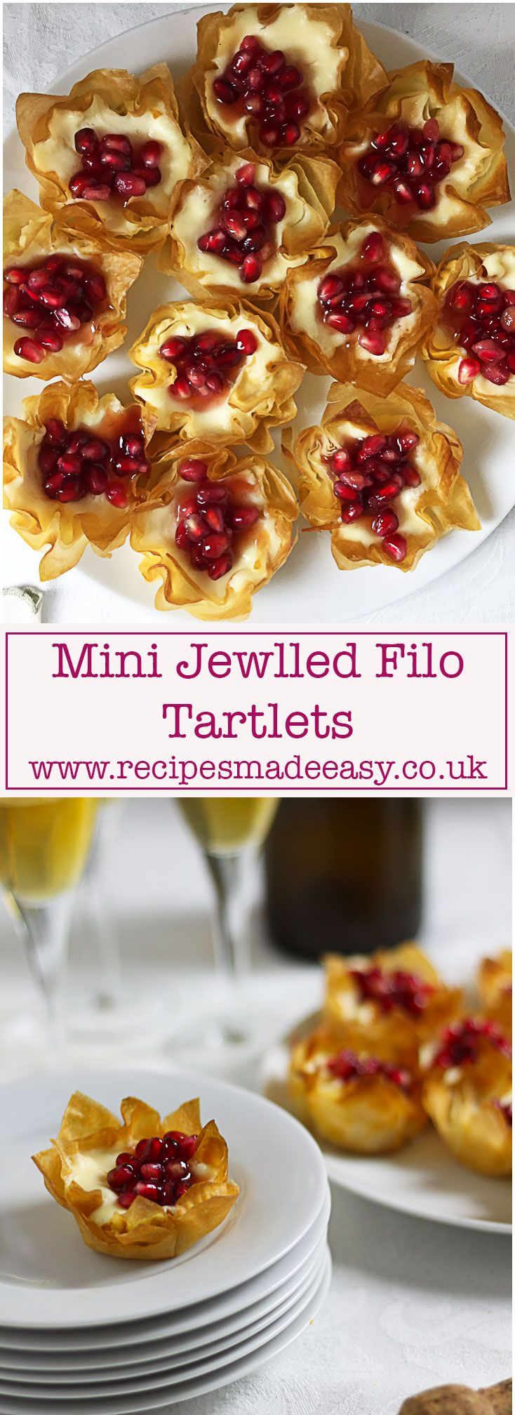 Mini Jewelled Filo Tartlets | Recipe | Filo recipe ...