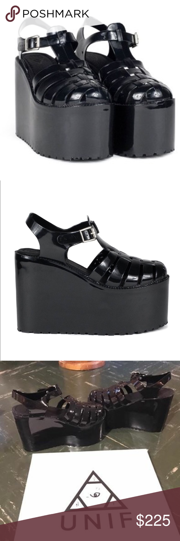 UNIF Hella Jelly Platform Shoes Gently