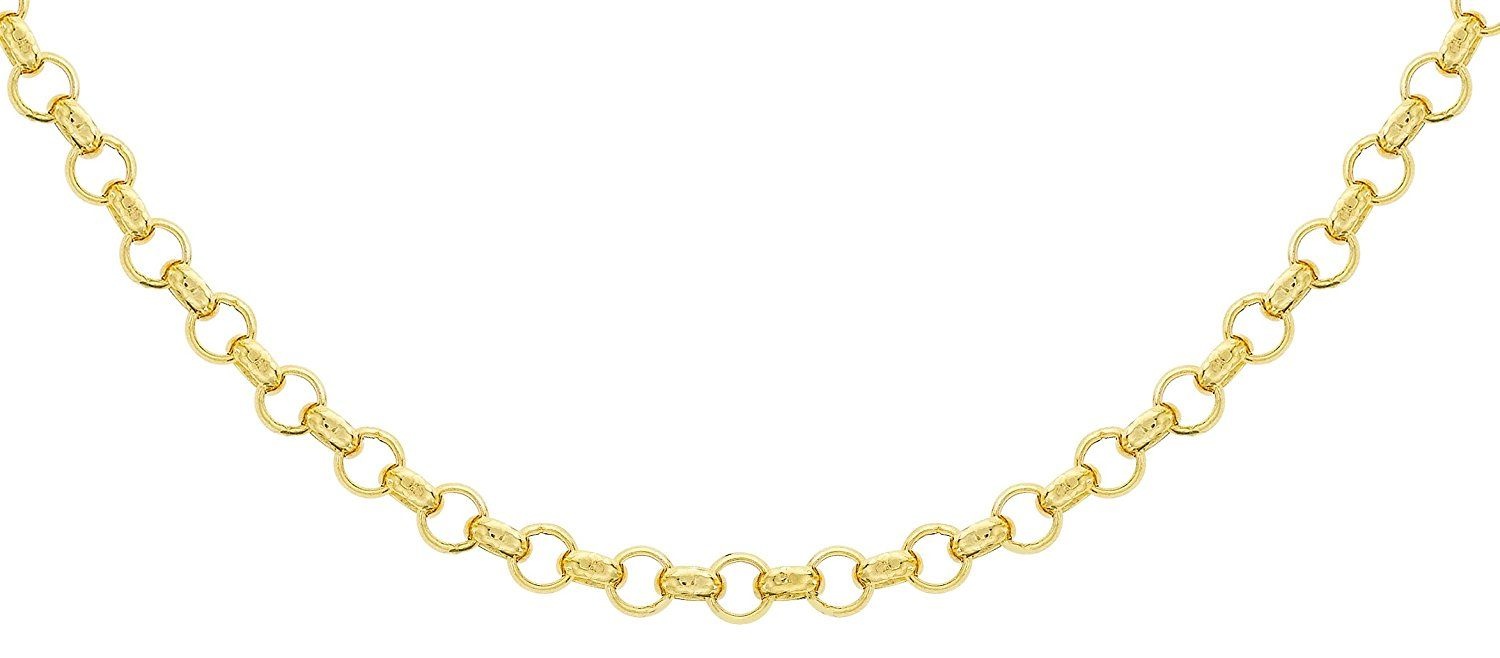 """Carissima Gold 9ct Yellow Gold Round Belcher Chain of 41cm/16"""""""