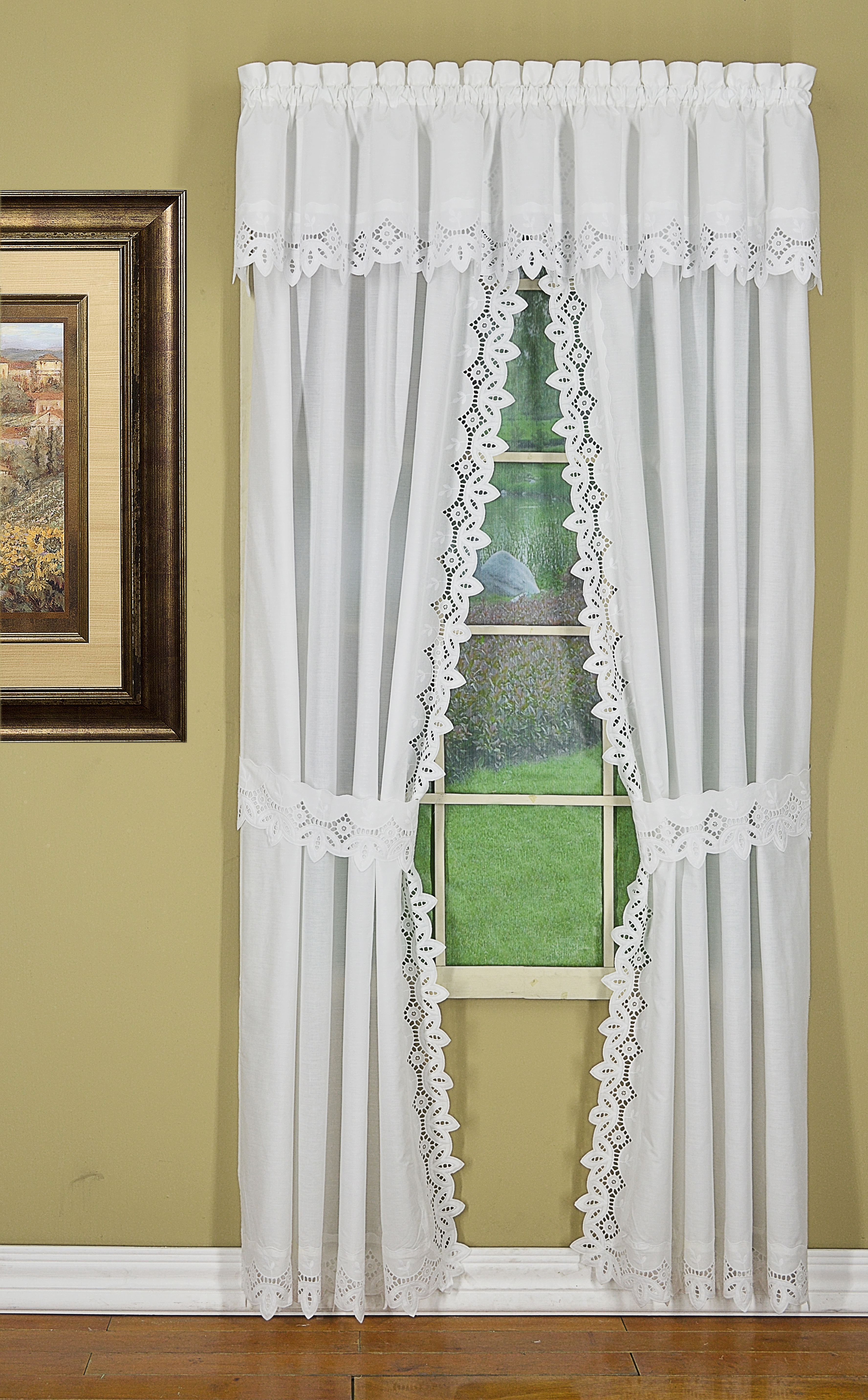 today s curtain heirloom 84l window curtain panel with tiebacks 2 piece white curtains shabby chic curtains curtain designs