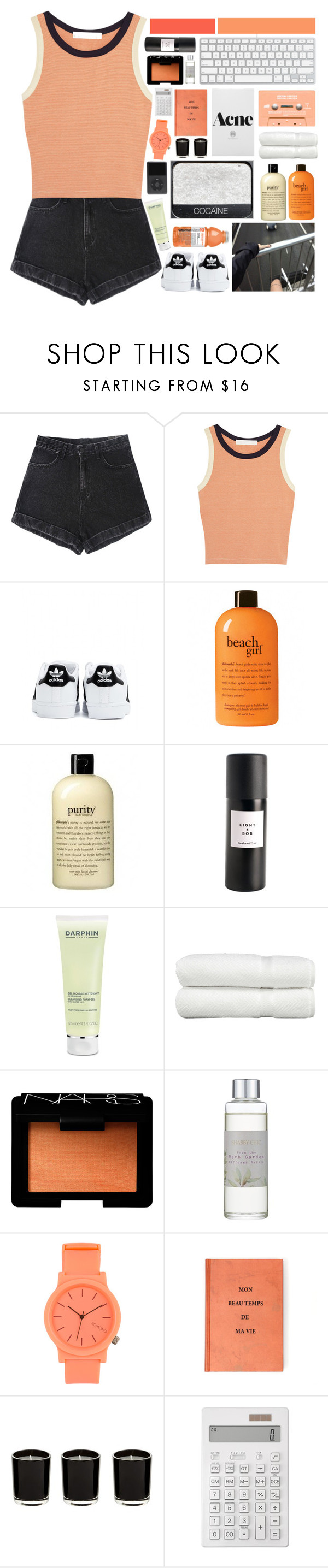 """""""♛ because i can ♛"""" by i-smell-grunge ❤ liked on Polyvore featuring Kain, adidas, philosophy, Eight & Bob, Darphin, Linum Home Textiles, NARS Cosmetics, Shabby Chic, Komono and Muji"""
