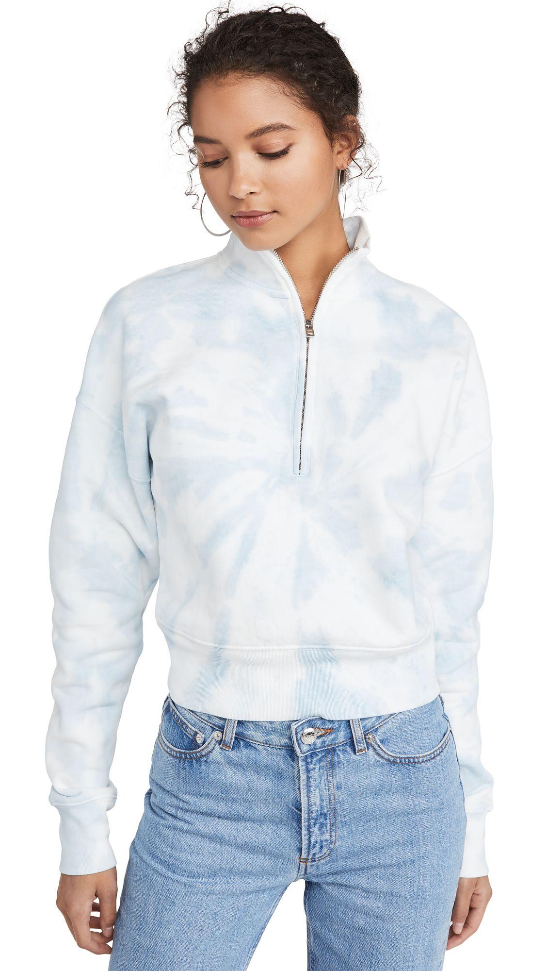 Reformation Marla Zip Sweatshirt Reformation Cloth [ 2000 x 1128 Pixel ]