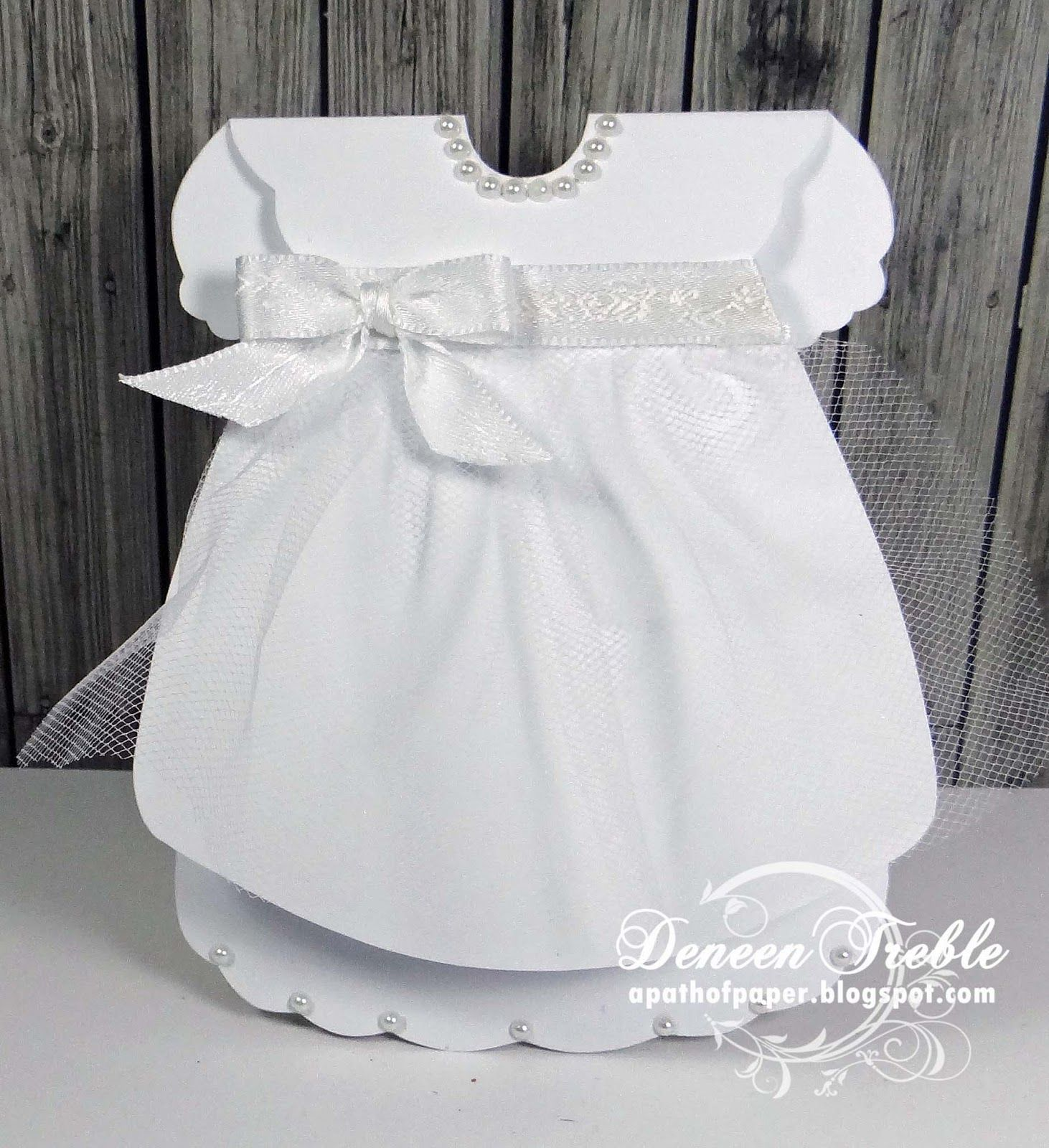 Dress Tutorial Template Dress Card Baby Girl Cards Baby Cards
