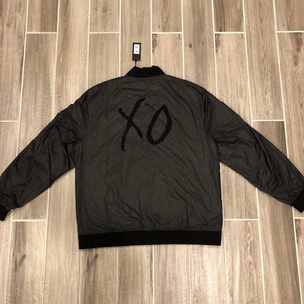 Puma X The Weeknd Xo Bomber Jacket Men S Size Xxl Black Embroidered New W Tags Fashion Clothing Shoes Accessories Bomber Jacket Mens Jackets Mens Jackets [ 1000 x 1000 Pixel ]
