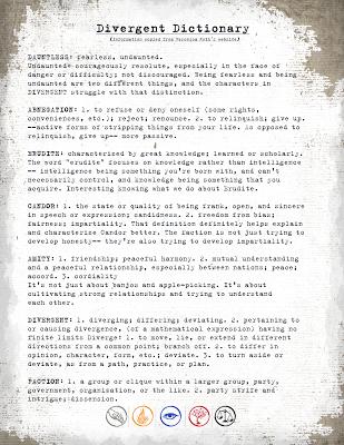 FREE Printable Divergent Faction Manifesto/Delicious Reads | random ...
