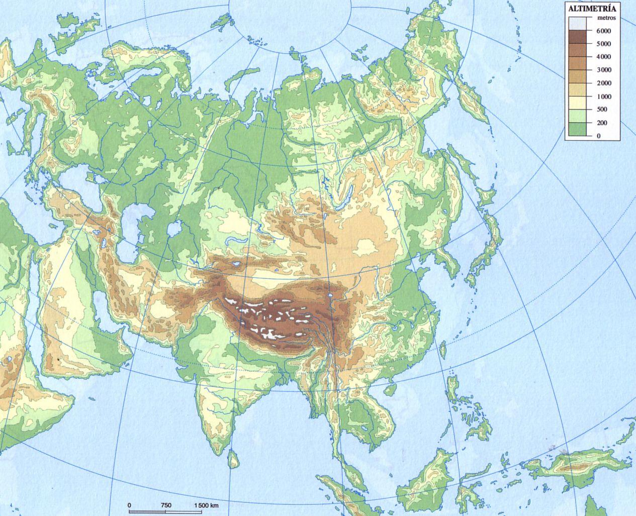 Mapa Mudo Asia Fisico.Pin De Dumitrascu Alina En G Hidrosfera Mapas Del Mundo