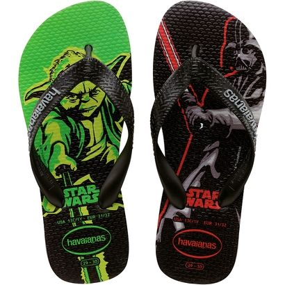 a03803446cc5 Kids will love the Kids White Max Star Wars flip flop sandals. Featuring a  glow-in-the-dark Yoda   Darth Vader print on the insoles.