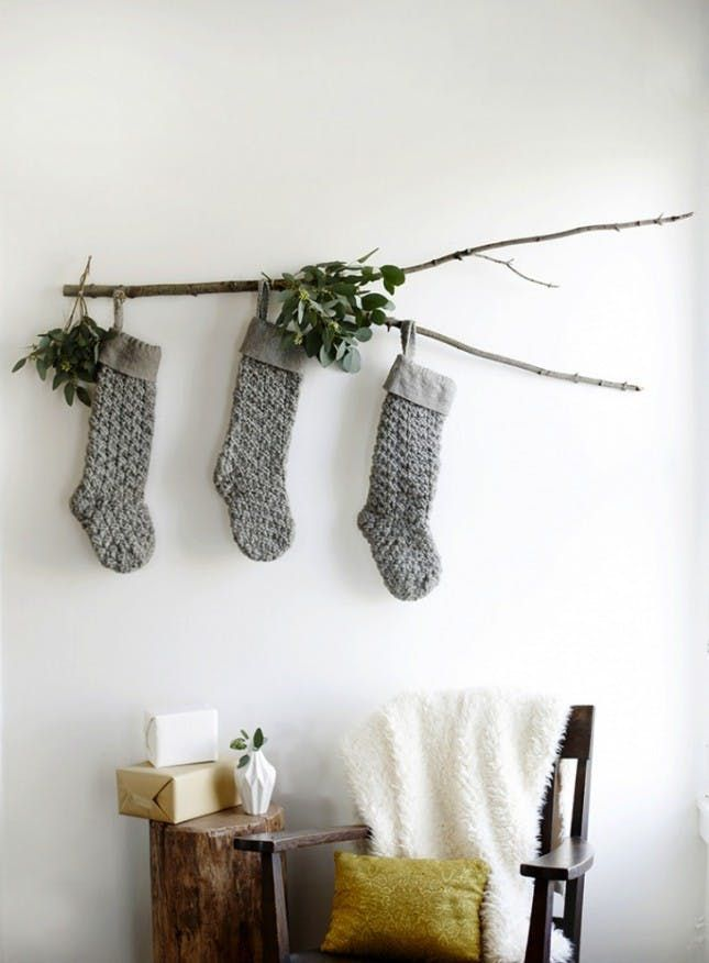 10 Ways to Hang Your Stockings Without a Mantel Mantels, Winter