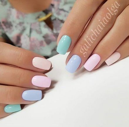 Trendy nails shellac pastel 36+ Ideas