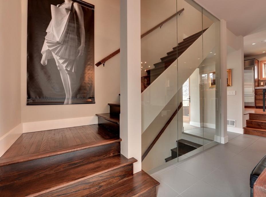 Escalier avec mur de verre | Escaliers | Pinterest