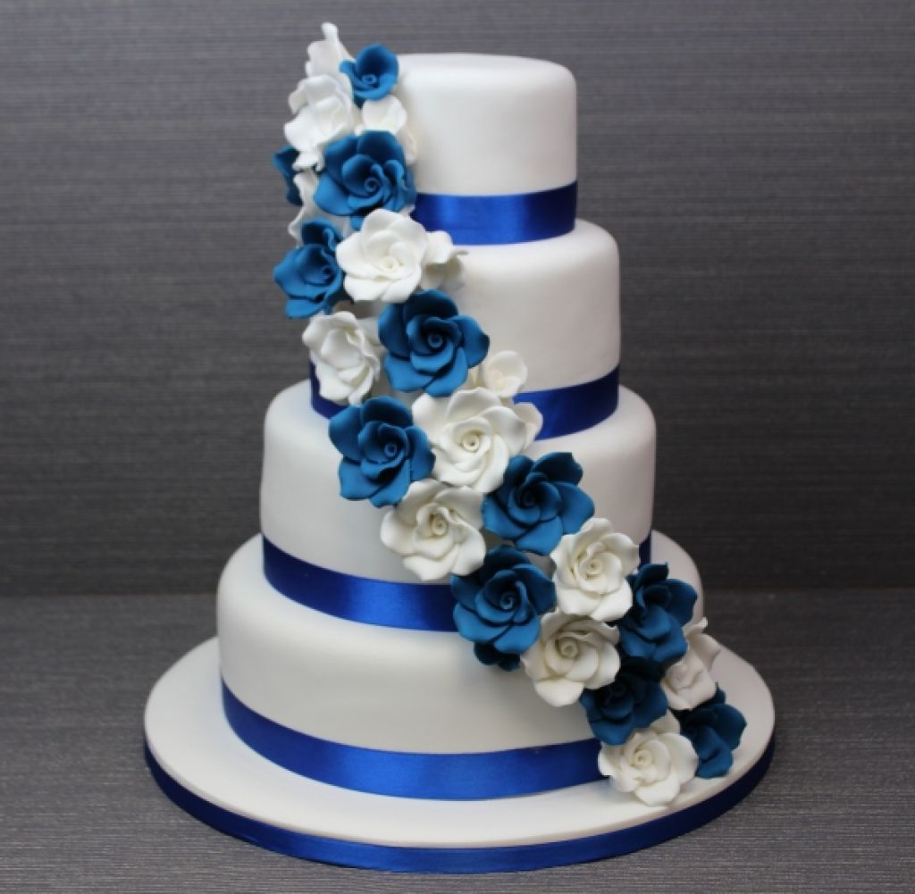 royal blue and white wedding   Google Search   Wedding Cakes     royal blue and white wedding   Google Search