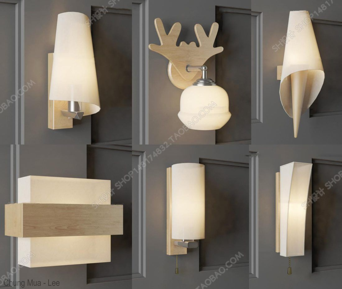 3d Model Wall Lamp 4 Free Download In 2020 Wall Lamp Wall Lamp
