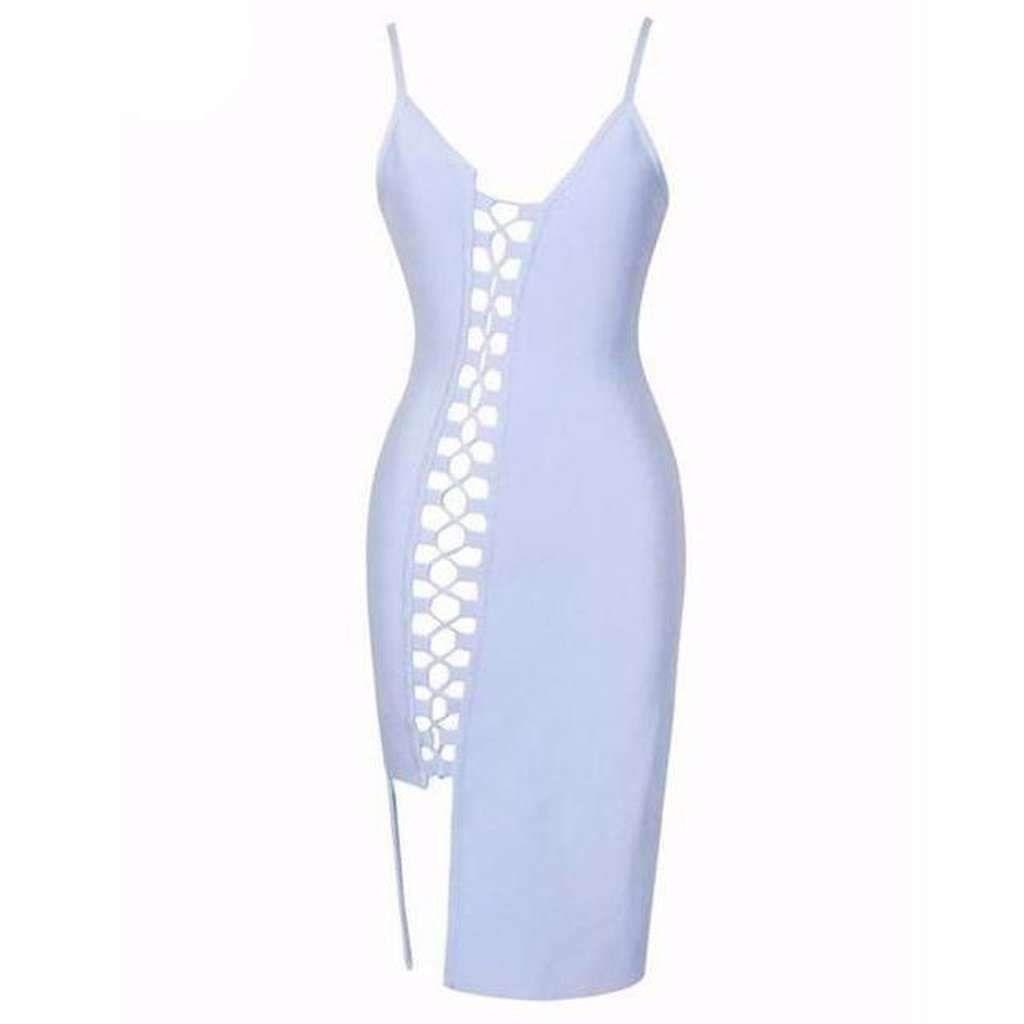 Danalyn Celebrity Lace Up Bodycon Dress