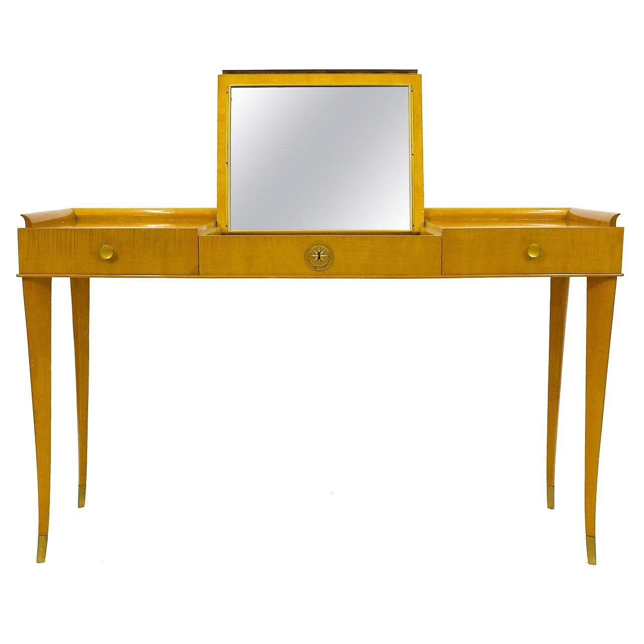 Italian attr gio ponti dressing table vanity console table gio ponti dressing table vanity console table writing desk geotapseo Choice Image