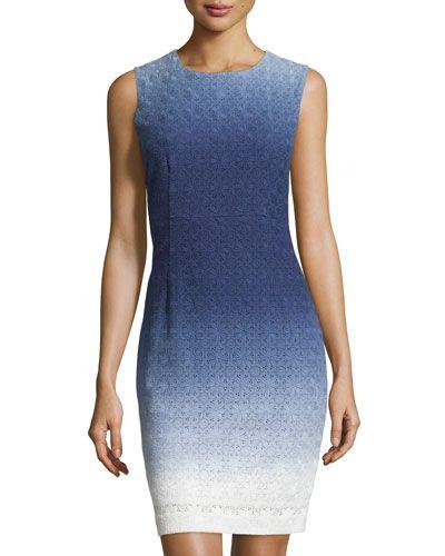 DIANE VON FURSTENBERG Kedina Cotton Eyelet Dress, Midnight Ombre . #dianevonfurstenberg #cloth #dress