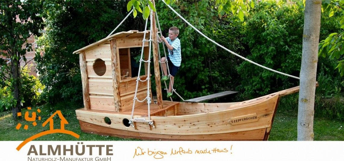 Perfect Piratenschiff Seepferdchen von Almh tte Naturholz Manufaktur GmbH almhuette naturholzbau