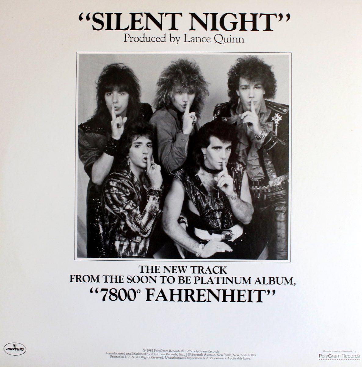 On Tour With Bon Jovi In The 1980s Flashbak Bon Jovi Jon Bon Jovi Silent Night