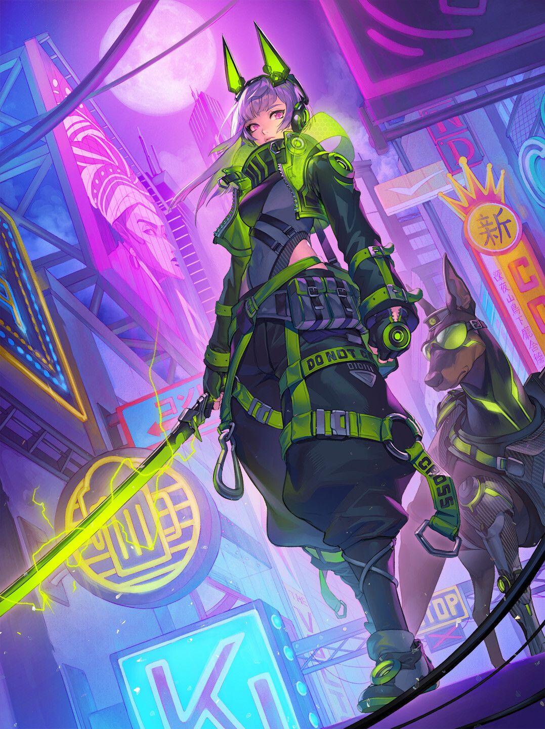 Cyberpunk by Jeong Eunjeong Cyberpunk anime, Cyberpunk